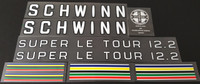 Schwinn Super Le Tour 12.2 Bicycle Decal Set