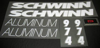 Schwinn 1989 Aluminum Series Decal Set (1991) - Other Models Available