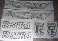 Ritchey Ultra Decal Set of 6 (sku 425)