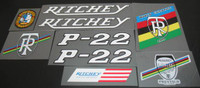 Ritchey P-22 Decal Set of 9 (sku 374)