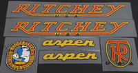 Ritchey 1986 Aspen MTB Bicycle Decal Set