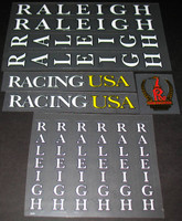 Raleigh Racing USA Bicycle Decal Set