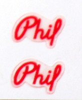 Phil Spindle Labels Set of 2 (sku 743)
