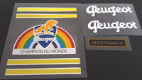 Peugeot Bicycle Decal Set