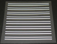 Paint Separator Stripes 8 pcs White-Black-White (sku 445)