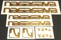 Nagasawa Gold Decal Set (sku 849)