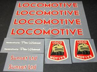 Locomotive decal set