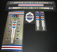 Liberia 1970s Bicycle Decal Set