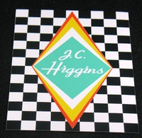 J.C. Higgins Seat Tube Decal (sku 799)