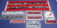 Laguna Cruiser Red Frame Decal Set of 8 (sku 488)