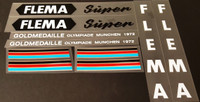 Flema 1971 Super Bicycle Decal Set