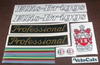 Ellis-Briggs Professional Decal Set of 9 (sku 685)