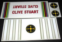 Clive Stuart Decal Set of 4 (sku 554)