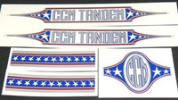 CCM Tandem Decal Set of 5 (sku 797)