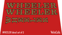 Wheeler Decal Set of 3