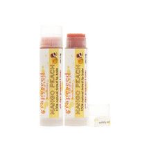 mango peach seasonal lip balm (tinted)