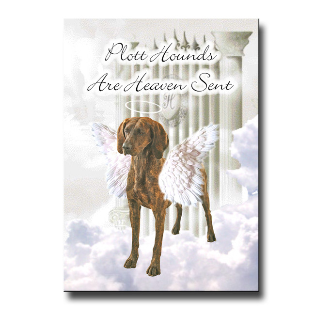 Plott Hound Heaven Sent Fridge Magnet