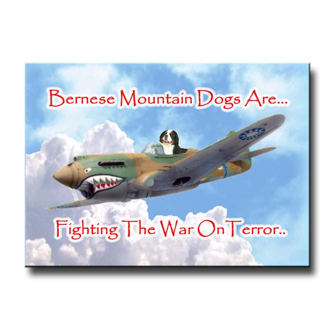 Bernese Mountain Dog War on Terror Fridge Magnet