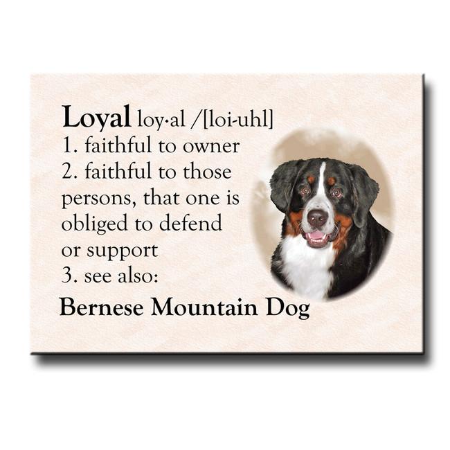 Bernese Mountain Dog Dictionary Loyal Fridge Magnet