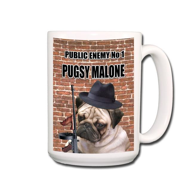 Pug Pugsy Malone Coffee Tea Mug 15oz