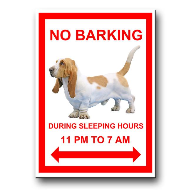 Basset Hound No Barking Fridge Magnet No 1