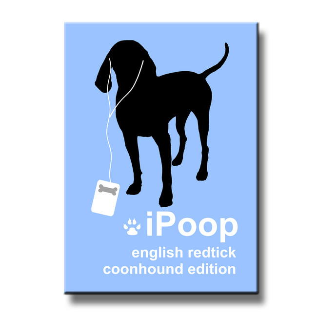 English Redtick Coonhound iPoop Fridge Magnet