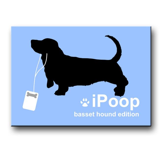 Basset Hound iPoop Fridge Magnet