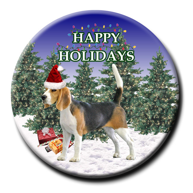 Beagle Christmas Holidays Pin Badge