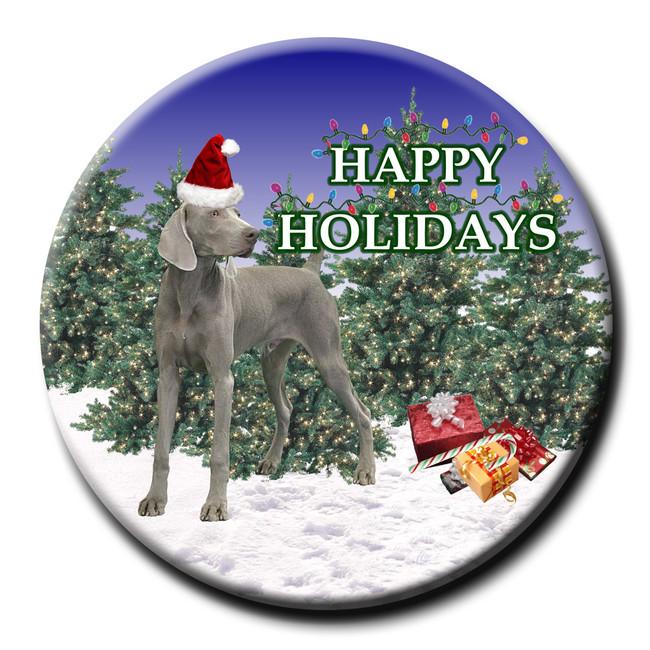 Weimaraner Christmas Holidays Pin Badge