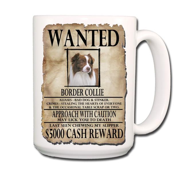 Border Collie Wanted Poster Coffee Tea Mug 15oz No 2 RW
