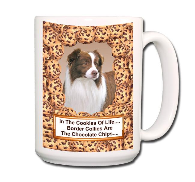 Border Collie Chocolate Chip Cookie Coffee Tea Mug 15oz No 2