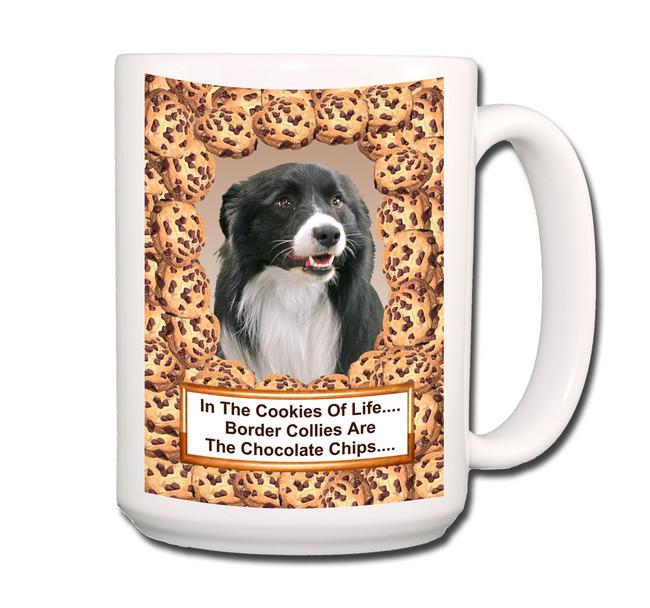 Border Collie Chocolate Chip Cookie Coffee Tea Mug 15oz No 1