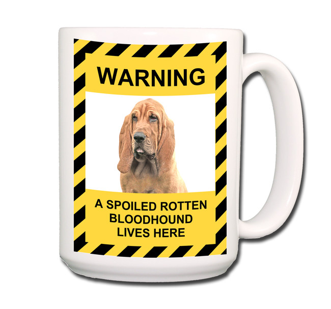 Bloodhound Spoiled Rotten Coffee Tea Mug 15oz