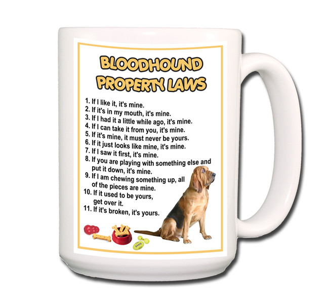 Bloodhound Property Laws Coffee Tea Mug 15oz