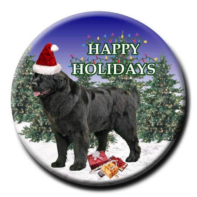 Newfoundland Christmas Holidays Pin Badge No 2