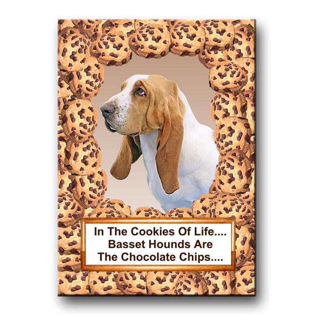 Basset Hound Cookie Chocolate Chip Fridge Magnet No 1