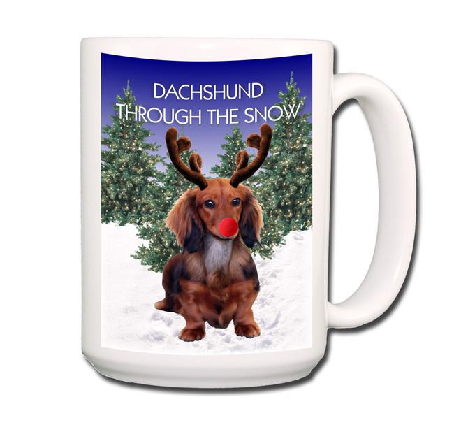 Dachshund Through The Snow Coffee Tea Mug 15oz No 4