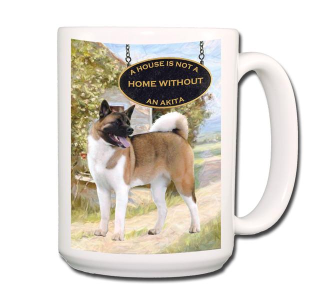 Akita a House is Not a Home Coffee Tea Mug 15oz