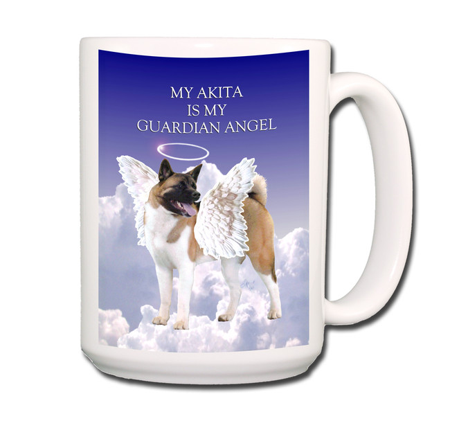 Akita Guardian Angel Coffee Tea Mug 15oz