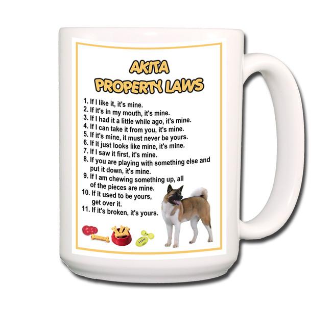 Akita Property Laws Coffee Tea Mug 15oz