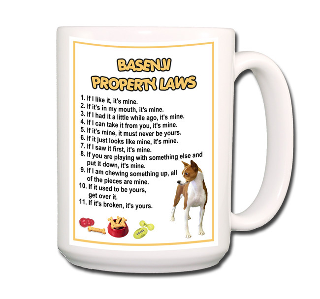 Basenji Property Laws Coffee Tea Mug 15oz No 1