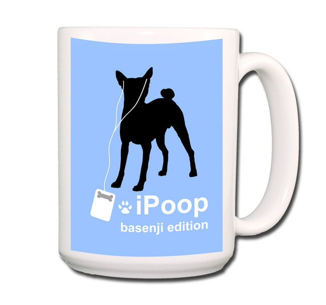 Basenji iPoop Coffee Tea Mug 15oz