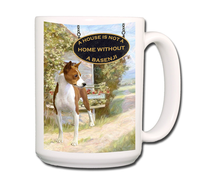 Basenji a House is Not a Home Coffee Tea Mug 15oz No 1