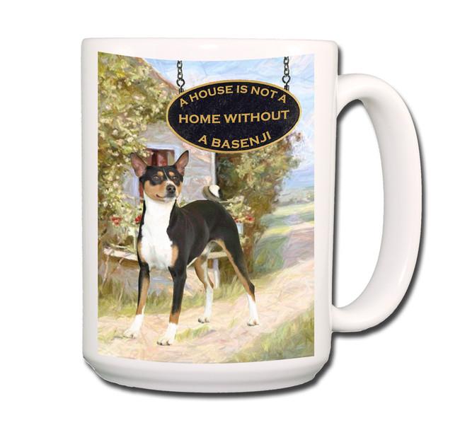 Basenji a House is Not a Home Coffee Tea Mug 15oz No 2