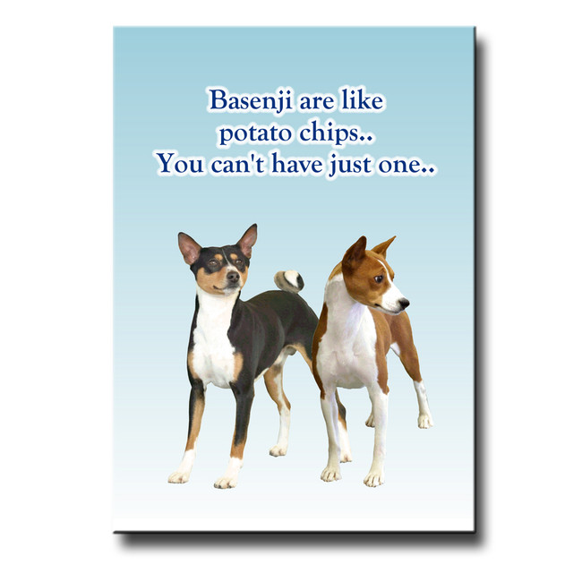 Basenji Can't Have Just One Fridge Magnet