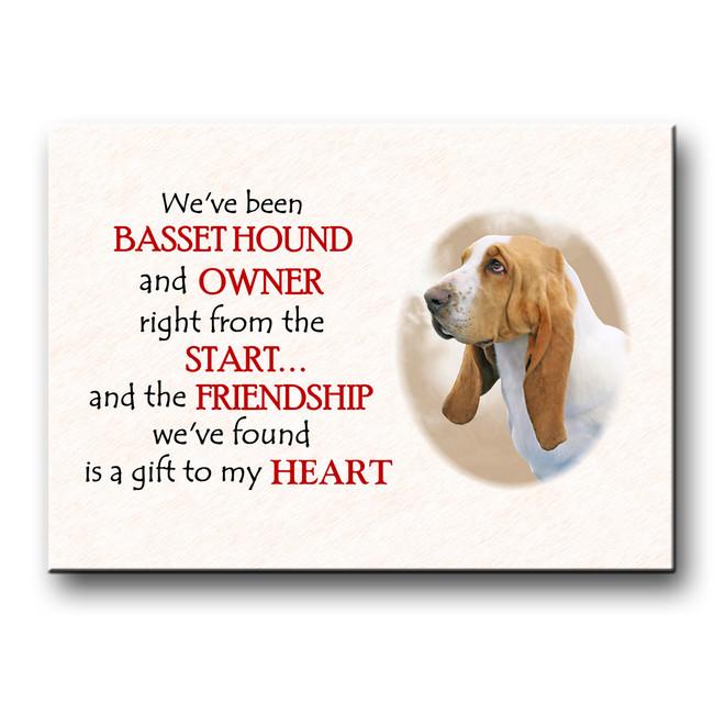 Basset Hound Friendship Fridge Magnet No 1