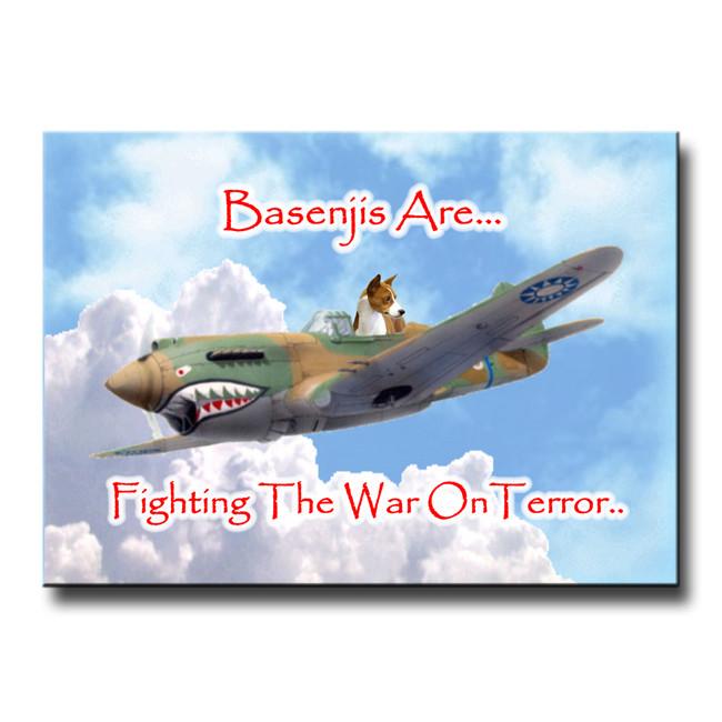 Basenji War on Terror Fridge Magnet No 1