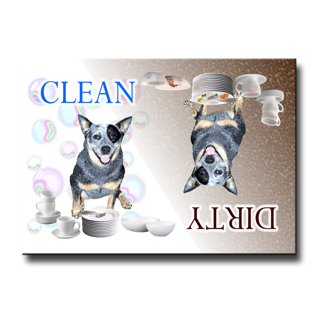 Australian Cattle Dog Clean Dirty Dishwasher Magnet