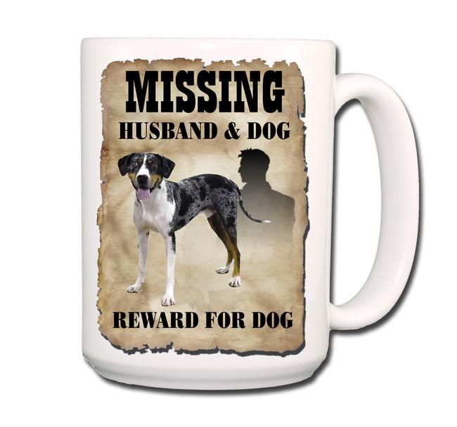 Catahoula Leopard Dog Husband Missing Reward Coffee Tea Mug 15oz
