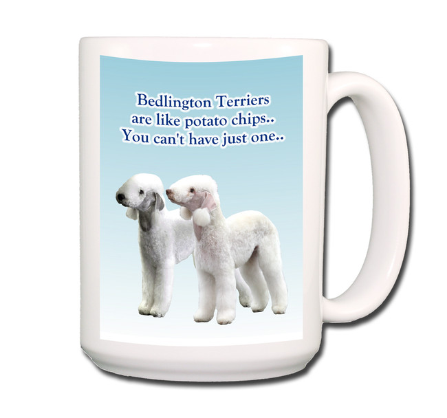 Bedlington Terrier Can't Have Just One Coffee Tea Mug 15oz